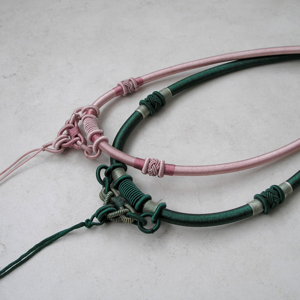 knotted satin cord necklace for pendant jewelry making