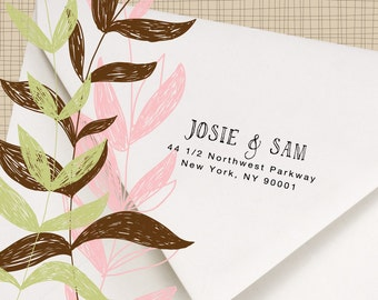 Return Address Stamp - Hand printed font - Perfect for stamping invitations, letters and packages - Josie and Sam Design