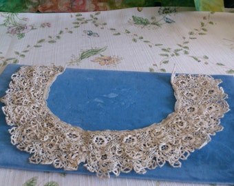 Double Lace Finely Crochet Collar PRICE REDUCED