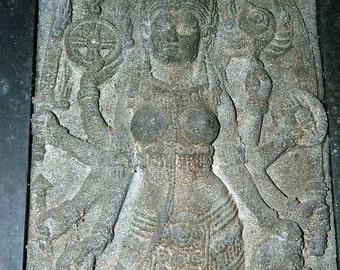 Vintage Indonesian Wall Hanging, Carved Stone, Putri Ayu, Made in Indonesia, Balinese, Javanese Folk Art Stone Sculpture original art