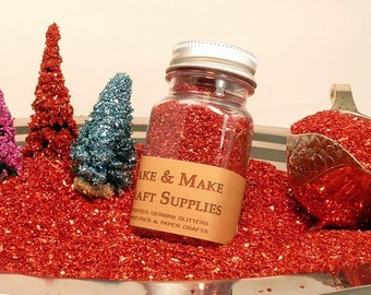 Chunky Red Glass Glitter - 70 Grit [Red #22 70Gr]