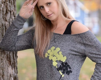 SALE xs - Pair of Pretties Slouchy Sweatshirt in Heathered Black
