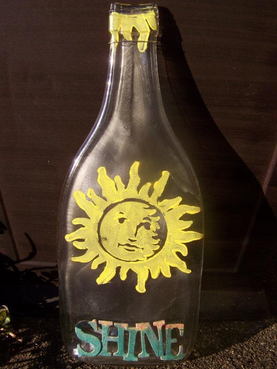 Sunshine melted wine bottle - How do you melt glass bottles ...