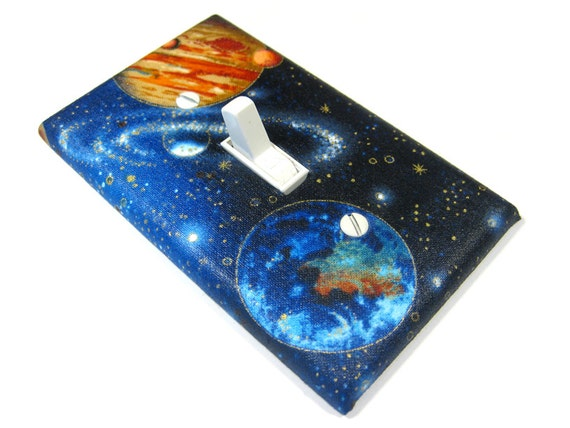 Blue Outerspace Galaxy Light Switch Cover Planet Earth Mars Outer Space Decor Switchplate Switch Plate Lightswitch 1658
