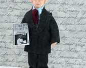Robert Frost Doll Poet Art Miniature Writer and Author Literature Character