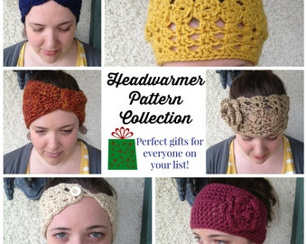 5 Gorgeous Crochet Headwarmer Pattern Collection WITH FREE BONUS (limited time offer -- regular price 20 dollars)