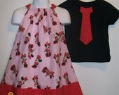 Dress size 4t   boys shirt 6/7 with mickey head on tie