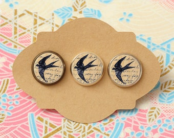 10 pcs handmade bird - earrings, pendant, ring - 12mm (PW-0729)