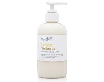 Lemon Verbena Shea Hand and Body Lotion with Organic Shea Butter