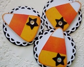 Candy Corn Embellishments-Set of 3