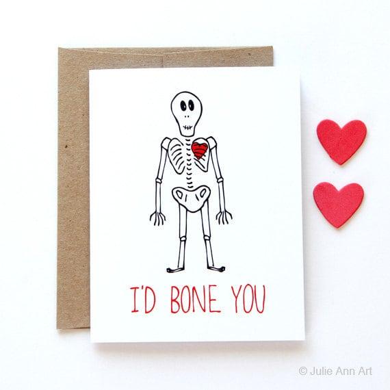Funny Love Card - I'd Bone You
