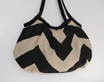 Granny Bag - Chevron Black / Dention