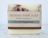 Chocolate Peppermint Soap// Natural Soap//Small Batch//Homegrown