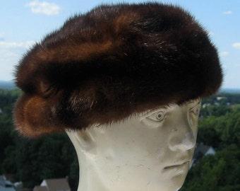 Vintage Mink Hat - Lord & Taylor - Sable Fur - C. 1960s