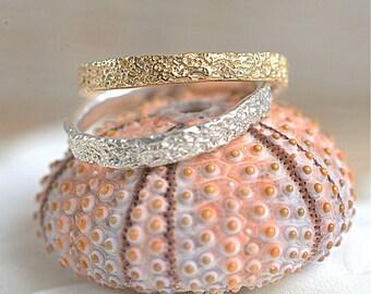 14k Gold Thin Coral Band | Stacking Ring | Nature Inspired Ring