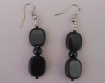 Square Glass Bead Earrings