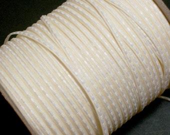 Ivory Ribbon, Ivory Saddle Stitch Ribbon 1/8 inch wide x 10 yards, Skinny Ribbon