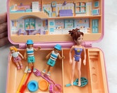 Vintage Polly Pocket Playset with Dolls and Accessories