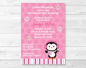 Penguin Baby Shower Invit...