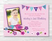 Cute Bird Birthday Invita...