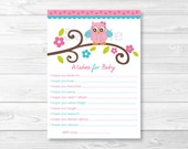 Girl Owl Wishes for Baby ...
