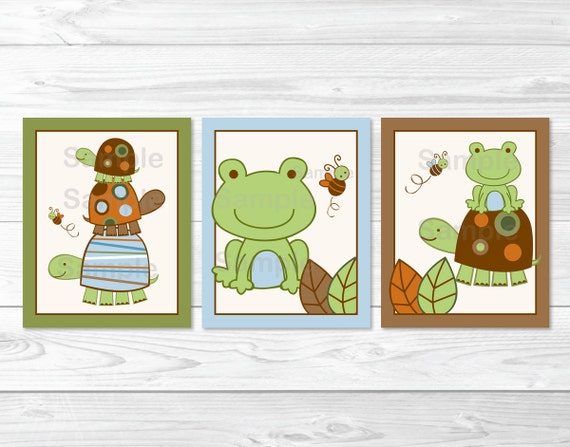 Laguna Turtle Frog Nursery Wall Art PRINTABLE Instant Download