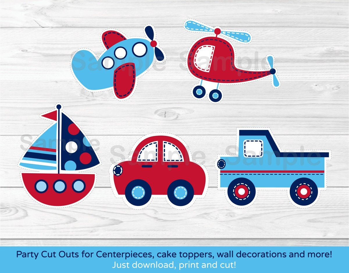 Wall Cut Out Worksheets : Transportation cut outs vehicle car truck