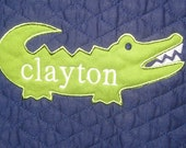 Custom order for Erica - Crib rail cover - alligator - made to match baby's nursery