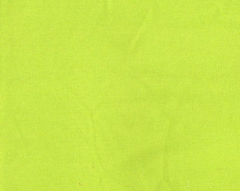 LIME Cotton Interlock Knit Fabric, by the Yard