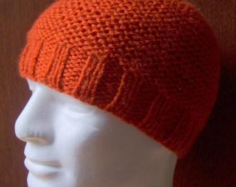 KNITTING PATTERN /BEAU Mans Simple Beanie/Easy Mans Beanie Hat/Aran/Knit Straight/ Mans Hat Pattern/Mens Hat Knitting Patterns