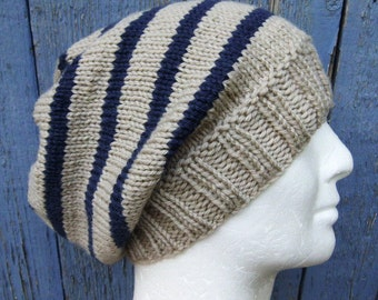 Hat Knitting Pattern Not In The Round : Mens knitwear Etsy