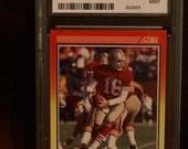 Montana, Joe Score Card #582 rated 9 Hall of Fame