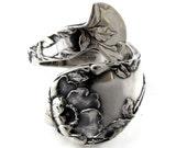 Sterling Spoon Ring Size 4 to 9  Les Cinq Fleurs Art Nouveau 1900 Demitasse
