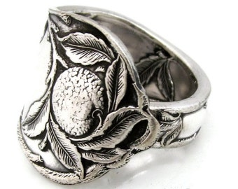 Spoon Ring Silver Sunkist 1910