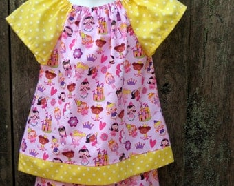 Pink Princess Ruffle Pants and Top outfit, Size 4/5, Ready to ship