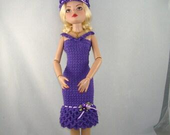 Crochet pattern for 16 inch dolls-petal dress