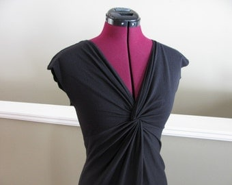 Black twisted dress-organic cotton-XS, S, XL