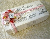 Mrs. Stover's Candy Box with Doll Millinery and Ribbon Shabby Cottage Cuteness
