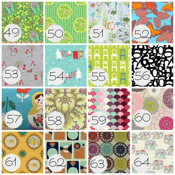 Any 3 Burp Cloths for Baby - 64 Fabrics to Choose From