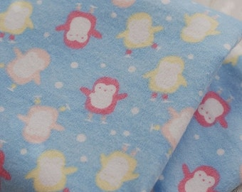 3347 - Penguin Flannel Cotton Fabric - 42 Inch (Width) x 1/2 Yard (Length)