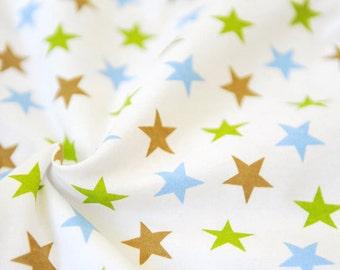 3387 - Star Cotton Jersey Knit Fabric - 68 Inch (Width) x 1/2 Yard (Length)