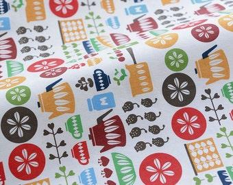 3725 - Kitchenware Cotton Linen Blend Fabric - 57 Inch (Width) x 1/2 Yard (Length)