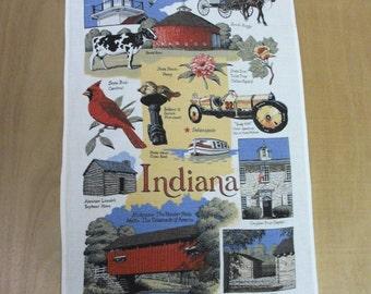 Vintage  Souvenir Indiana  Hand Towel