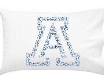 Personalized Pillowcase University of Arizona Wildcats Pillow Room Decor Football Graduation Gift