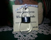 """Mini Primitive Snowman Cookie Cutter Tiny 1 7/8"""" With Custom Handle By West Tinworks"""