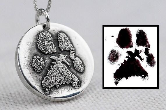 Dog Paw Print Necklace Jewelry Custom Personalized Sterling
