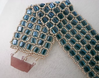 Turquoise Cube Cuff