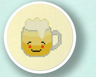 Refreshing Beer. Cross Stitch PDF Pattern