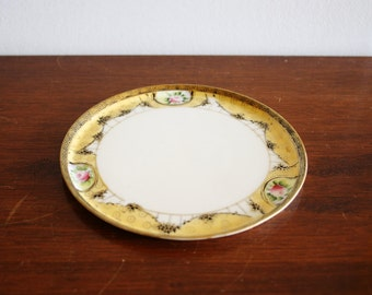 Vintage porcelain hand painted tray, Nippon