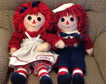 25 inch Personalized Raggedy Ann or Andy Handmade Custom Order  - 25 Inches